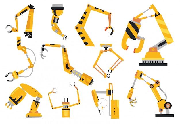 産業用ロボットアーム製造技術 Premiumベクター
