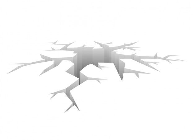 ベクトル亀裂デザインされた穴クラッシュの概念 Premiumベクター