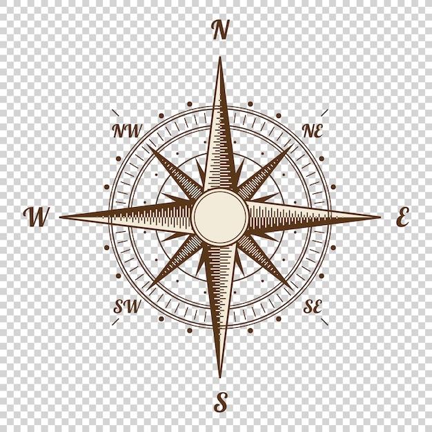 Старый стиль вектор компас Premium векторы