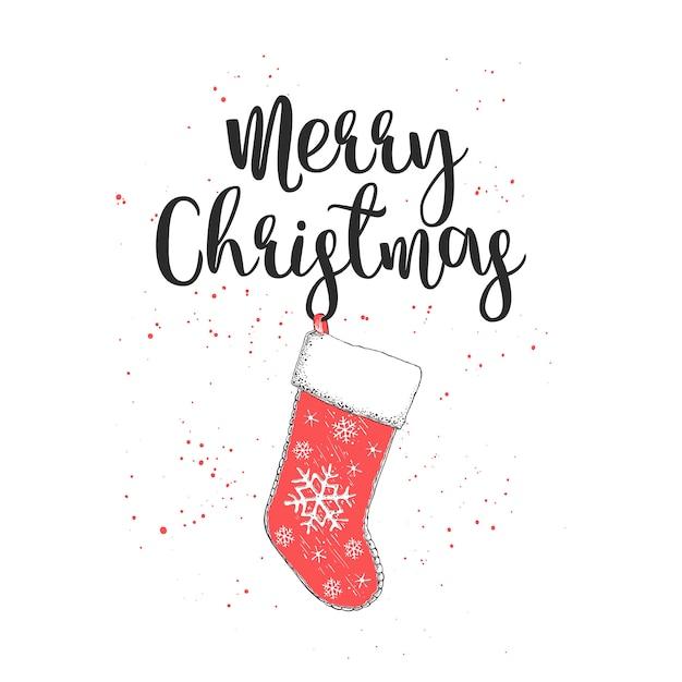 手描きのスケッチクリスマスと新年の休暇 Premiumベクター