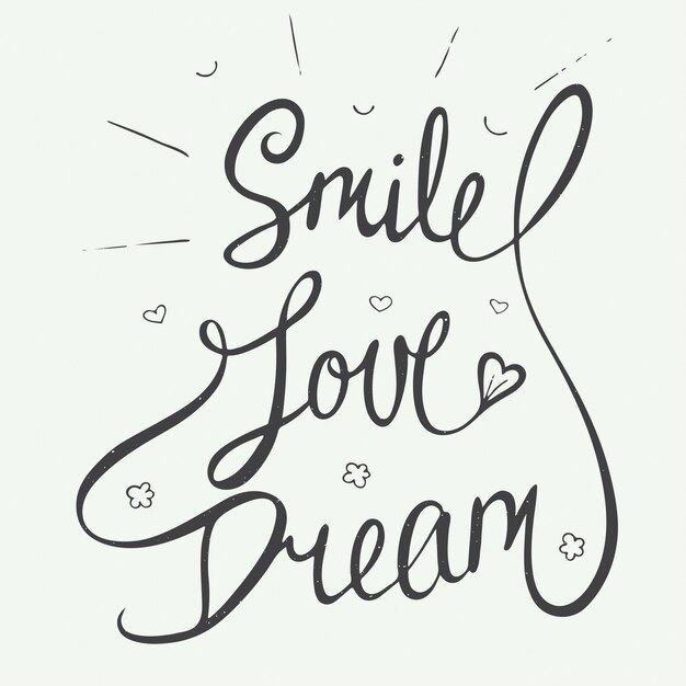 笑顔、愛、小さな心の夢 Premiumベクター