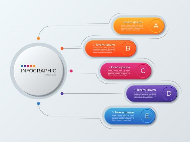 Презентация бизнес инфографики шаблон с параметрами. Premium векторы