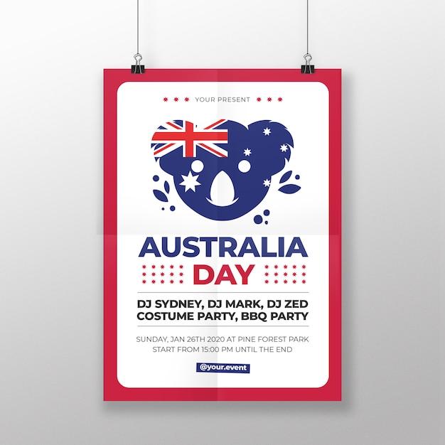 オーストラリアの日ポスター Premiumベクター