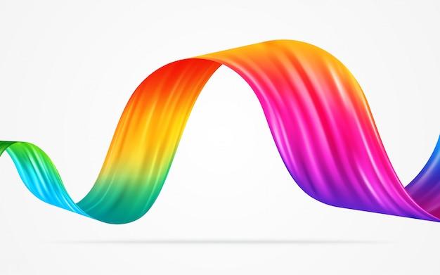 カラフルな流れの抽象的な背景のベクトル図です。 Premiumベクター