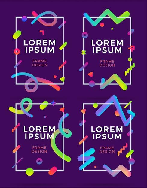 Охватывает современный абстрактный дизайн шаблоны набора. Premium векторы