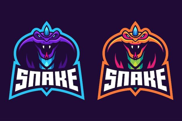 Змея с дизайном логотипа рога киберспорта Premium векторы