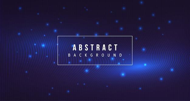 ライングロー背景を持つ抽象的な粒子 Premiumベクター