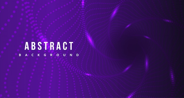 熱烈な背景デザインと抽象的な紫ドット Premiumベクター