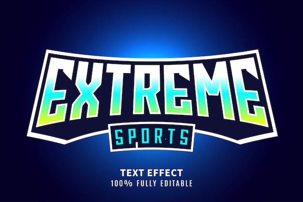 Экстремальный спортивный текстовый эффект Premium векторы