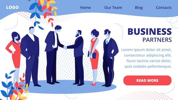 Лидеры команды бизнесменов встретились для успешной сделки Premium векторы