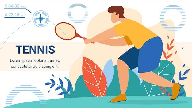 Шаблон баннера спортсмена для теннисиста Premium векторы