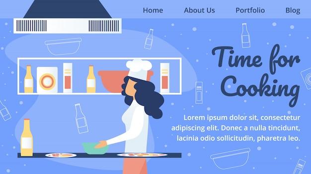 レストラン、カフェテリア、ピッツェリアのウェブサイト Premiumベクター