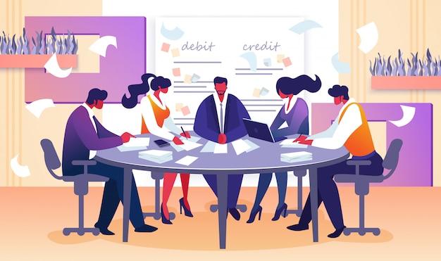 取締役および従業員の理事会 Premiumベクター