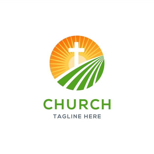教会のロゴ Premiumベクター