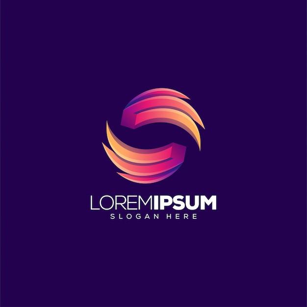 Крыло буква о дизайн логотипа векторная иллюстрация Premium векторы