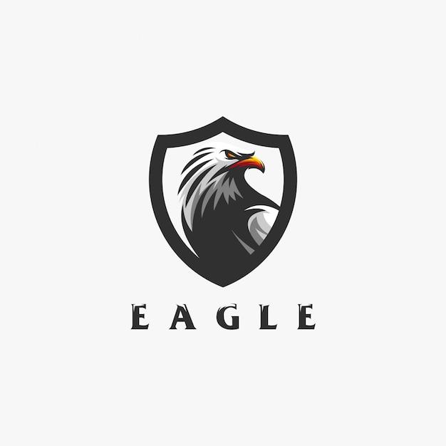 イーグルのロゴデザイン Premiumベクター