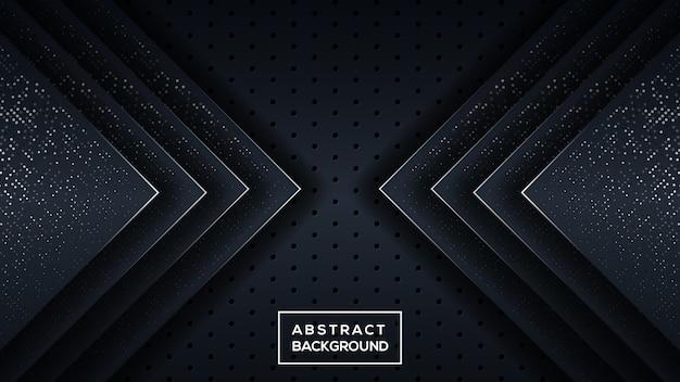 暗い三次元の背景 Premiumベクター
