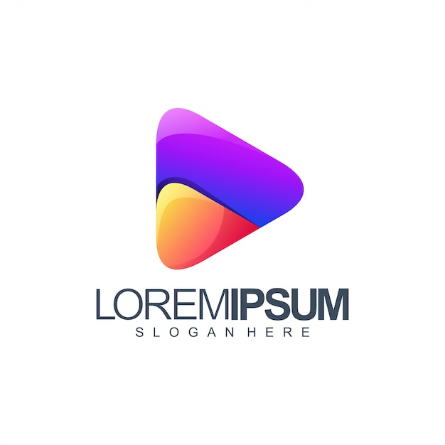 Медиа логотип Premium векторы