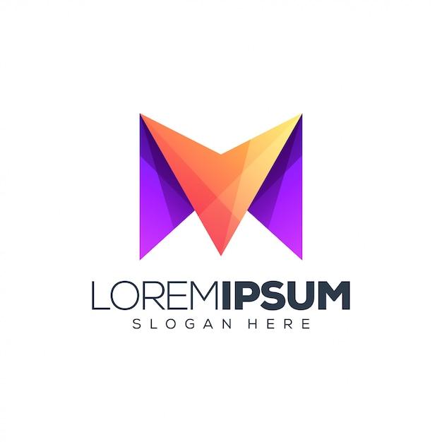 Буква м логотип Premium векторы