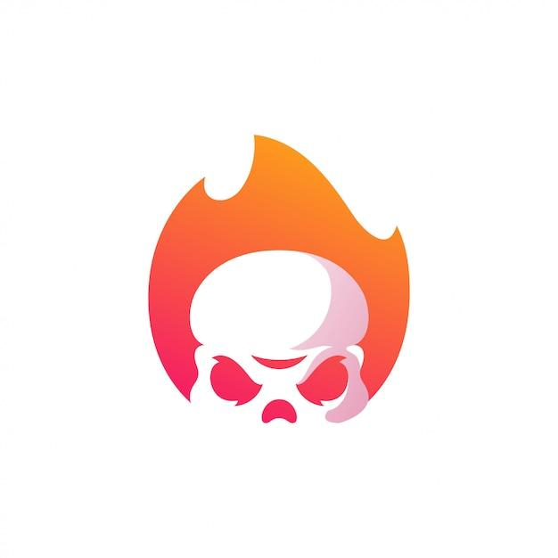 スカルのロゴの図 Premiumベクター