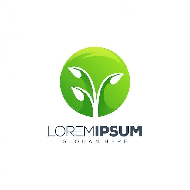 Лист логотип векторная иллюстрация Premium векторы
