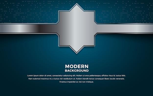 オーバーラップシルバーレイヤーと暗い抽象的な背景。 Premiumベクター