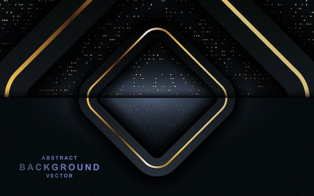 ネイビーブルーはレイヤーの背景にキラキラと重なります。 Premiumベクター