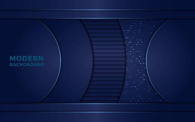 抽象的なネイビーブルーの背景 Premiumベクター