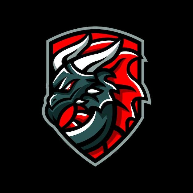 Логотип значка дракона Premium векторы