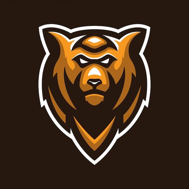 クマの頭のマスコットのロゴ Premiumベクター