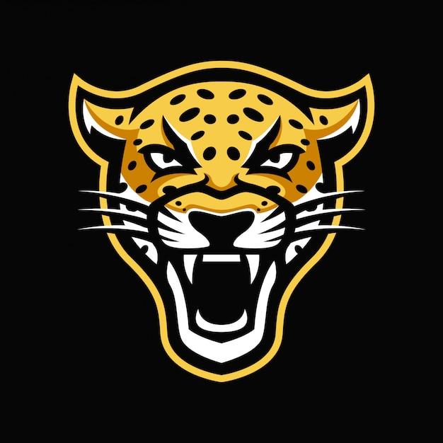 Логотип талисмана ягуара Premium векторы