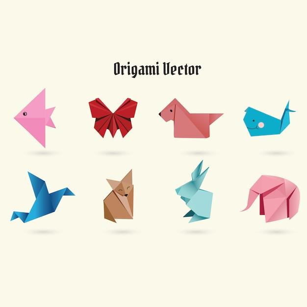 折り紙のベクトル Premiumベクター