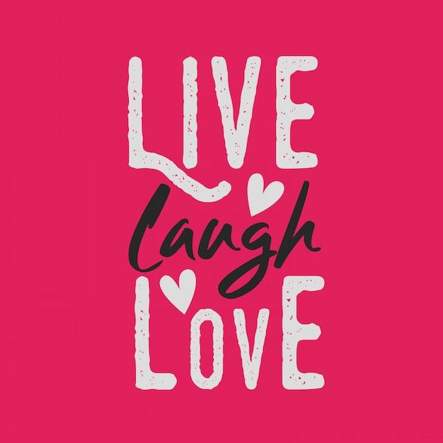 Надписи вдохновляющие типографии цитаты жить смех любовь Premium векторы