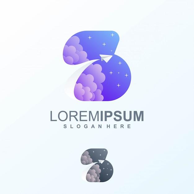 スペースロゴデザイン Premiumベクター