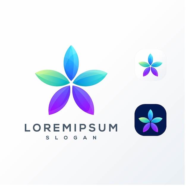 カラフルな星のロゴ Premiumベクター