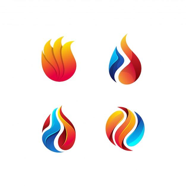 石油と天然ガスのロゴバンドル Premiumベクター