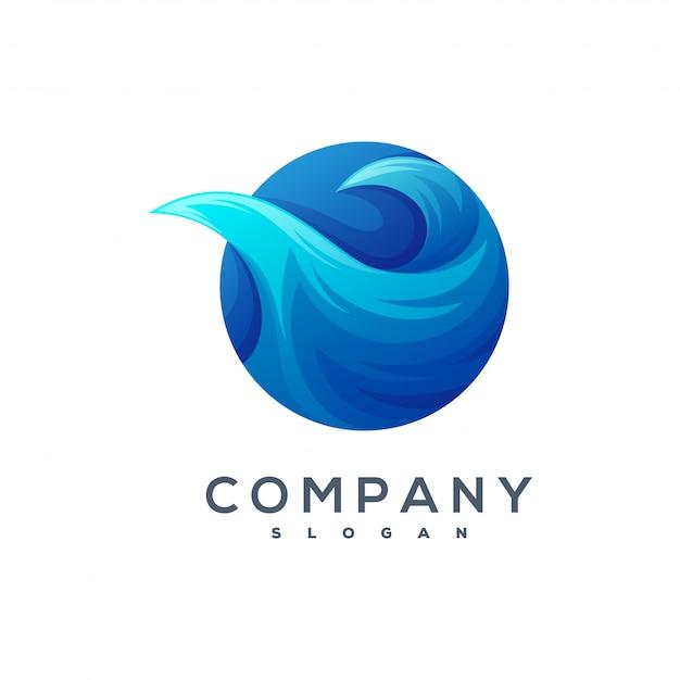 波のロゴのベクトル Premiumベクター