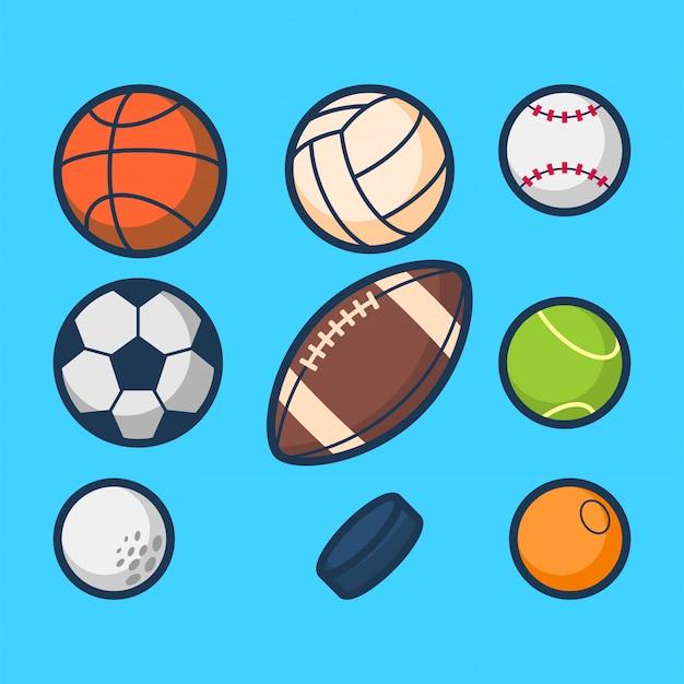 スポーツボールの図 Premiumベクター