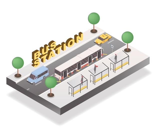 バス停のコンセプト Premiumベクター