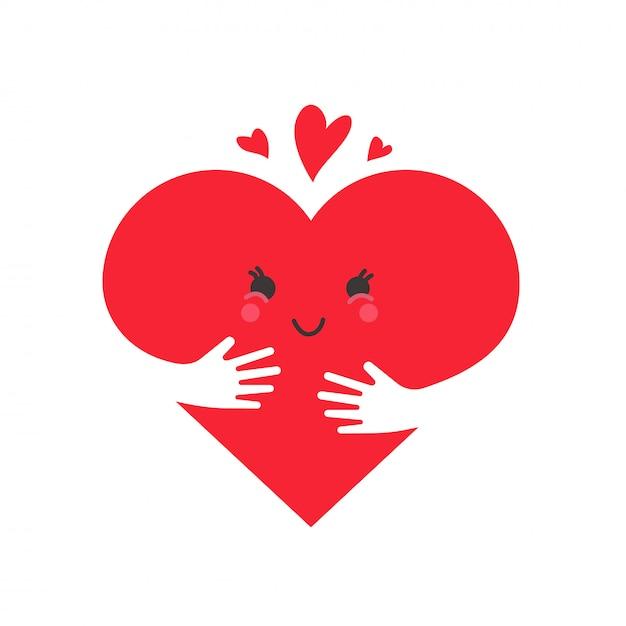 心の愛の概念 Premiumベクター