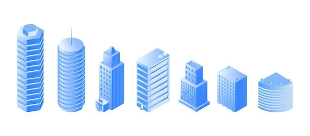 Городская архитектура изометрии Premium векторы