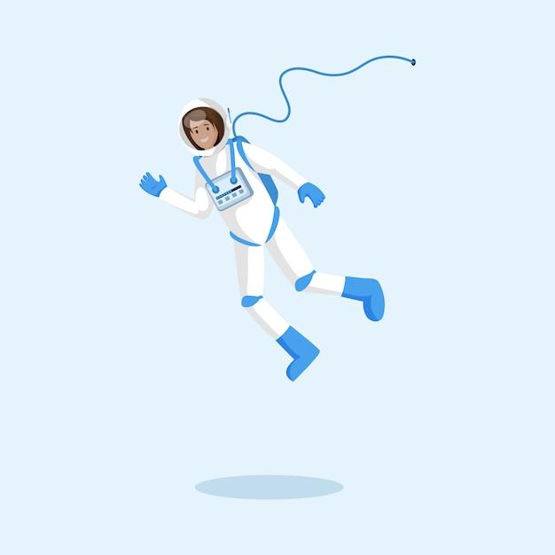 宇宙服を着た宇宙飛行士 Premiumベクター