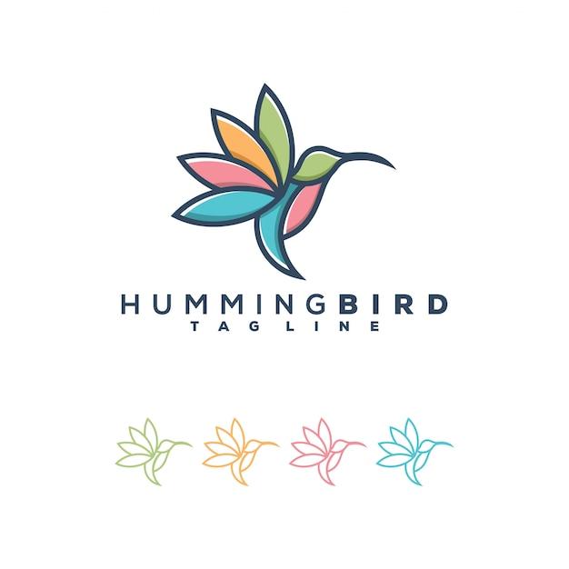 ハチドリのロゴの図 Premiumベクター