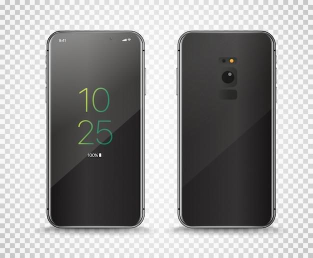Современный безрамочный смартфон Premium векторы