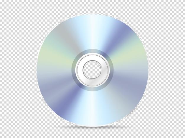 Современный компакт-диск, изолированный на прозрачном Premium векторы