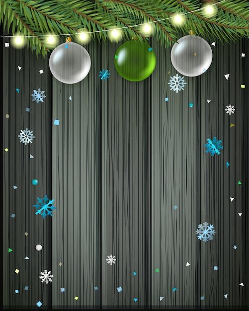 メリークリスマスと新年あけましておめでとうございますグリーティングカード。 Premiumベクター