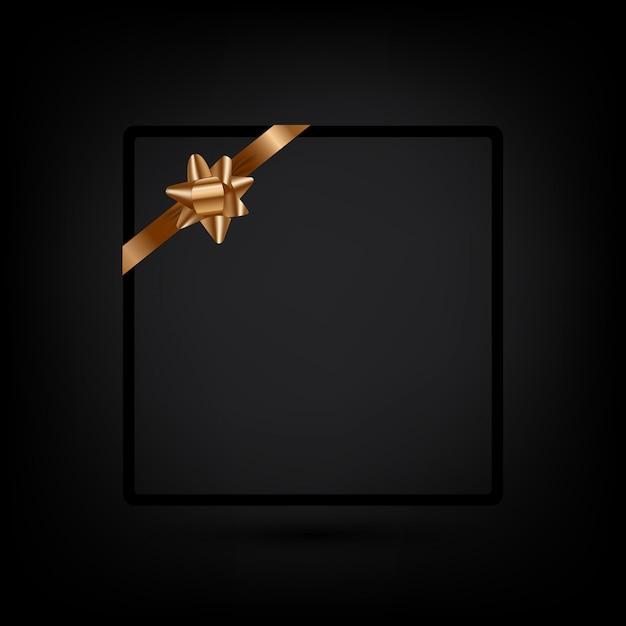 Шаблон поздравительной открытки праздник с золотой лентой. вектор копией пространства для текста Premium векторы
