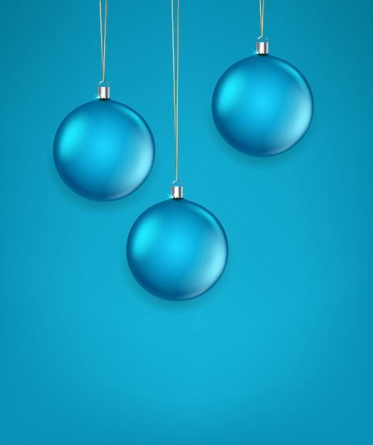 Матовое зеленое стекло рождество безделушки векторные иллюстрации. шаблон для поздравительной открытки Premium векторы