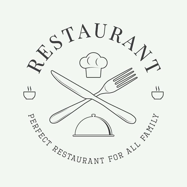 Логотип ресторана Premium векторы