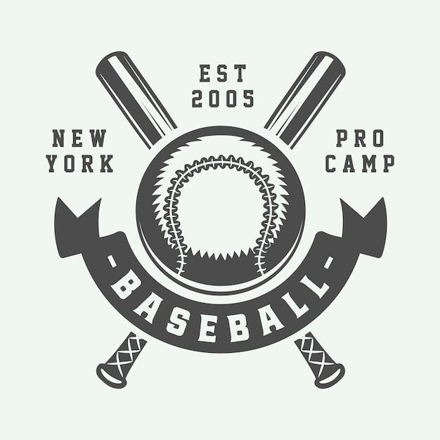 Логотип бейсбол спорт Premium векторы